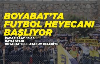 Boyabat'ta Futbol Heyecanı Başlıyor