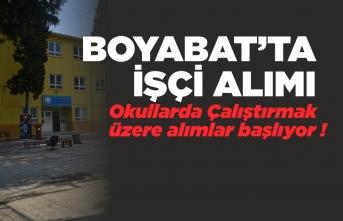 Boyabat'ta Okullarda Çalıştırılmak Üzere 113 İşçi Alınacak