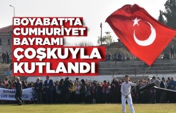 Boyabat'ta 29 Ekim Cumhuriyet Bayramı Coşkuyla Kutlandı