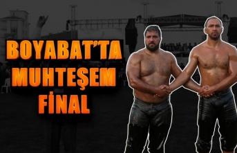 Boyabat Yağlı Güreşlerinde Muhteşem Final Video