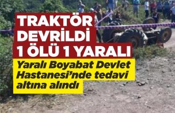 Gölet Köyü'nde Traktör Kazası 1 Ölü 1 Yaralı