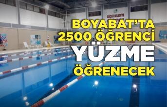 Boyabat'ta 2500 Öğrenci Yüzme Öğrenecek