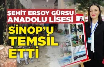 Şehit Ersoy Gürsu Anadolu Lisesi Sinop'u temsil etti
