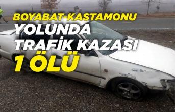 Boyabat Kastamonu Yolunda Trafik Kazası 1 Ölü
