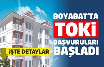Boyabat'ta 120 ev için başvurular başladı