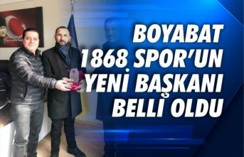 Boyabat 1868 Spor'un yeni başkanı Vahdet Erdoğan oldu