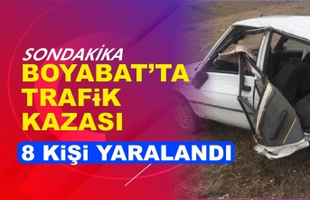 Boyabat Maruf Köyü'nde Kaza 8 Yaralı