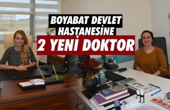 Boyabat'ta 2 Doktor Göreve Başladı