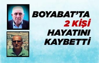 Boyabat'ta 2 Kişi Hayatın Kaybetti