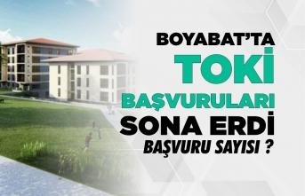 Boyabat'ta TOKİ başvuruları tamamlandı