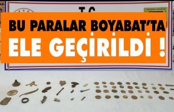Boyabat'ta 56 parça tarihi eser ele geçirildi