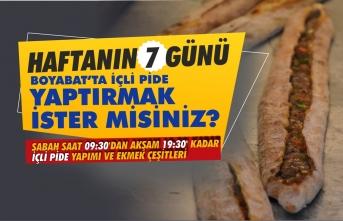 Nasip Ekmek Fırını Boyabat'ta Haftanın 7 Günü İçli Pide Yapıyor