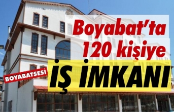 Boyabat'ta 120 kişiye iş imkanı