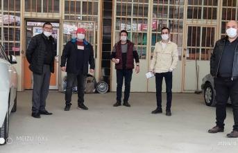Boyabat Esnaf Kefalet'ten esnafa maske desteği