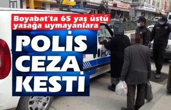 Boyabat'ta Polis ekipleri 65 yaş üstüne ceza kesmeye devam ediyor