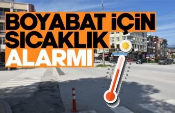 Boyabat için sıcaklık alarmı