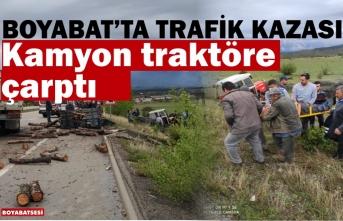Boyabat Organize Sanayi Mevkiinde Trafik Kazası !