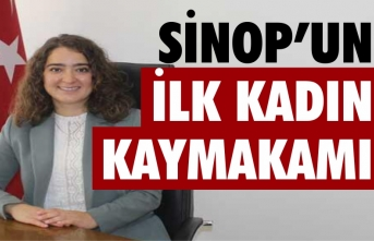 Sinop'un ilk kadın kaymakamı