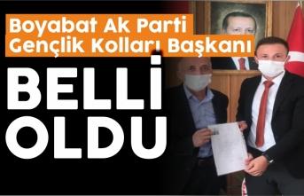 Boyabat AK Parti yeni gençlik kolları başkanı belli oldu