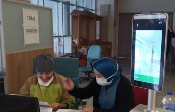 Boyabat Devlet Hastanesi'nde yüz tanıma sistemi kuruldu
