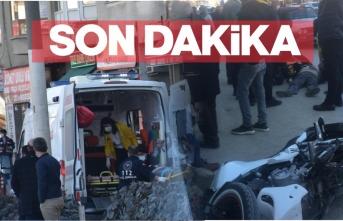 Boyabat'ta motorsiklet kazası 1 yaralı