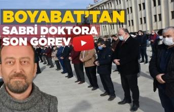 Dr.Sabri Tazkır Boyabat Hastanesi'nden memleketine uğurlandı