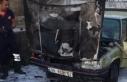 Araç Yangınına İtfaiye Müdehale Etti
