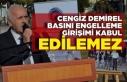 Cengiz Demirel''Görev sırasında basını...