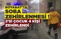 Boyabat'ta sobadan sızan gaz 4 kişiyi zehirledi