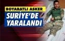 Boyabatlı asker Suriye'de yaralandı
