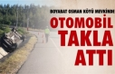Boyabat Osman Köyü Mevkinde araç takla attı