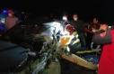 Boyabat Kastamonu yolunda zincirleme trafik kazası...