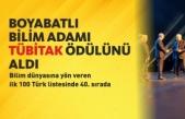 Boyabatlı Prof. Dr. Cengiz Kahraman TÜBİTAK Bilim Ödülü'ne Değer Görüldü