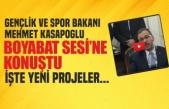 Bakan Kasapoğlu'ndan Boyabat'a Dair Önemli Açıklamalar