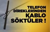 Boyabat'ta telefon direklerinden kablo söken 2 kişi yakalandı