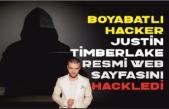 Boyabatlı Hacker RootAyyıldız dünyaca ünlü Justin Timberlake'nin web sayfasını hackledi.
