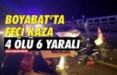 Boyabat Sinop yolunda feci kaza 4 ölü 6 yaralı