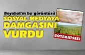 Boyabat'ın bu görüntüsü sosyal medyaya damgasını vurdu