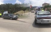 Boyabat İtfaiye Kavşağı'nda trafik kazası