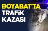 Boyabat Sanayi mevkiinde trafik kazası