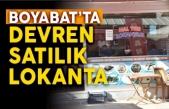Boyabat Hal Yerinde Devren Satılık Lokanta