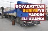 Boyabat'tan Suriye'ye yardım eli