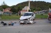 Sanayi Kavşağında Trafik kazası: 1 Yaralı