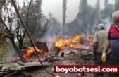 Boyabat'ta bir ev yanarak kül oldu !