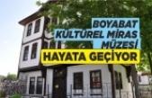 Boyabat Belediyesi Yaşayan Kültürel Miras Müzesi'nde çalışmalar sürüyor