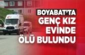 Boyabat'ta Genç Kız Evinde Ölü Bulundu