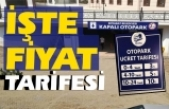 Boyabat'ta 400 araçlık otopark açıldı
