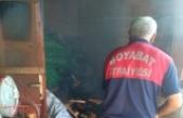 Boyabat'ta yangın ,odunluk alev aldı !