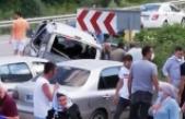 Boyabat Sinopyolunda kaza: 10 yaralı