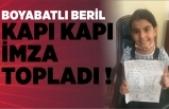 Minik Beril park için imza topladı